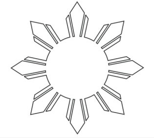 Tutorial 1 Draw The Sun In The Philippine Flag In 8 Philippines National Flag Coloring